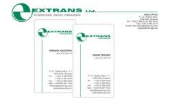 Визитка и бланка Extrans