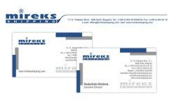 Визитка и бланка Mireks Shipping